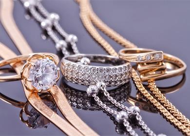 Золотые цепочки и кольца