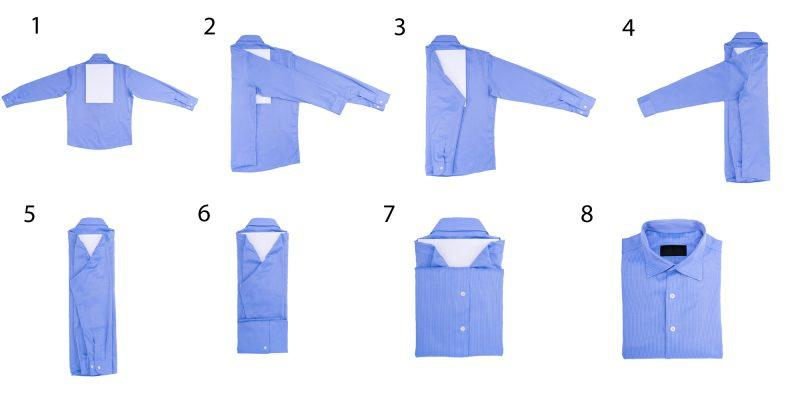 Схема складывания рубашки