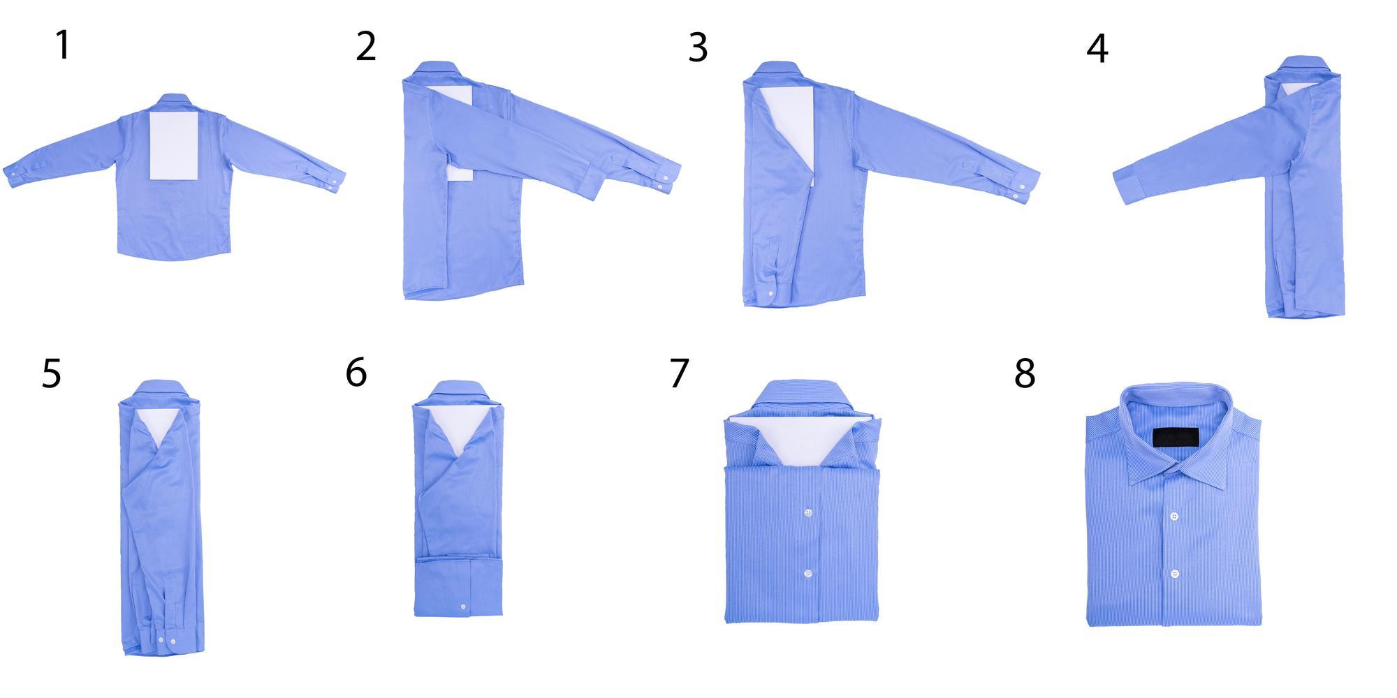 Схема сложить рубашку