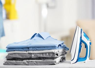 Рубашки, сложенные в стопку