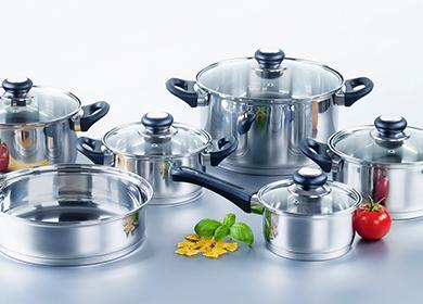 Набор кастрюль и сковородок из нержавейки