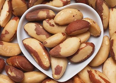 Орехи в форме в виде сердца