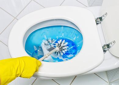 Мытье унитаза