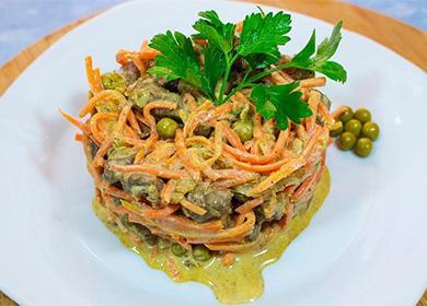 Классический рецепт салата «Обжорка» иего модификации для любителей «остринки» ивегетарианцев