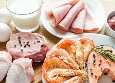 Мясо, рыба, молочные продукты
