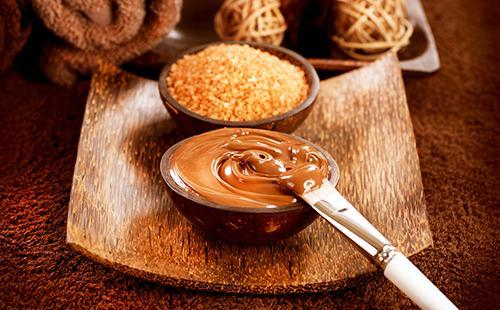 Смесь с какао готова к наложению