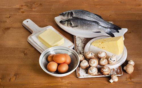 Рыба, масло, яйца