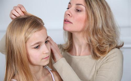 Мама выбирает дочке вши