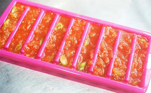 Форма для замораживания помидоров