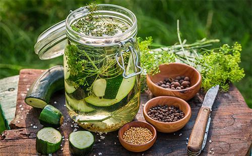 Ингредиенты для маринада для кабачков
