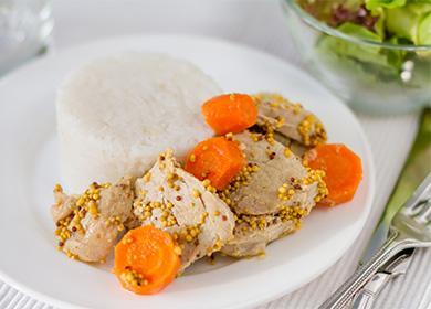 Рис с отварным мясом