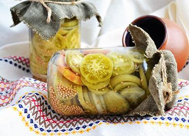 Рецепты салата из зеленых помидоров на зиму: как избежать «горчинки», а также лайфхак с капроновой крышкой
