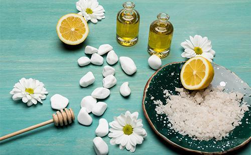 Ингредиенты для солевой маски для волос