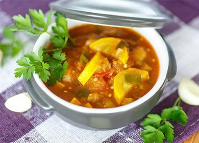 Рецепты тушеных кабачков (сытных и постных): готовим на сковороде, в горшочках, в мультиварке