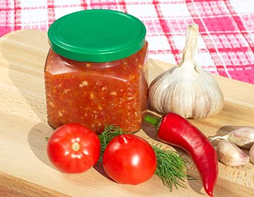 приправа из хрена помидор и чеснока рецепт