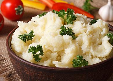 Картофельное пюре с петрушкой