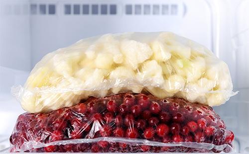 Цветная капуста в пакете в морозилке