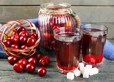 Рецепт вишневого компота: терпкий рубиновый напиток сароматом лета