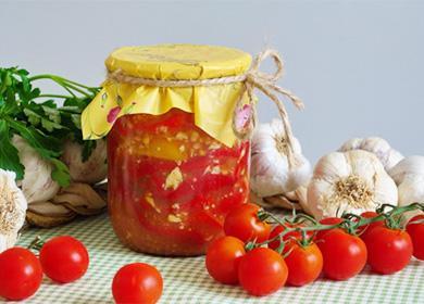 Перец консервированный в томатном соку