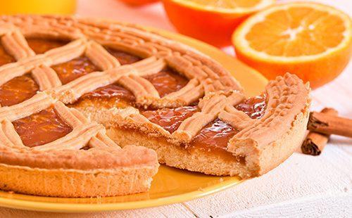 Тарт с апельсиновым джемом