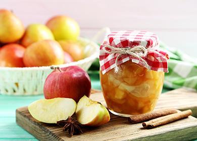 Варенье из яблок в красивой банке