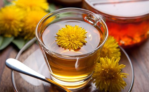 Чай из цветков одуванчика