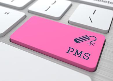 Розовая кнопка на клавиатуре
