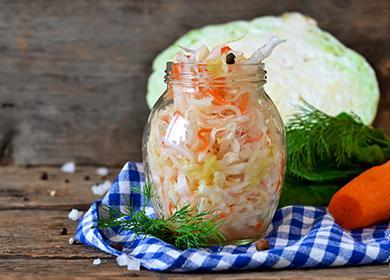 Заготовка из капусты и моркови