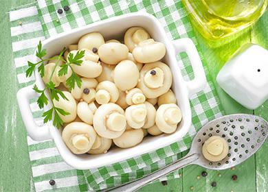 Маринованные шампиньоны: рецепты назиму, интересные варианты маринада, подача