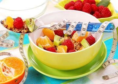 Мюсли с фруктами для похудения