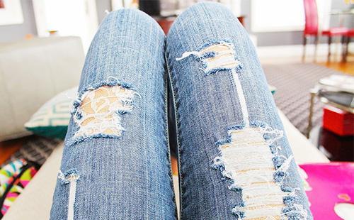 Кружево под рваные джинсы