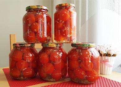 Консервированные помидоы с чесноком