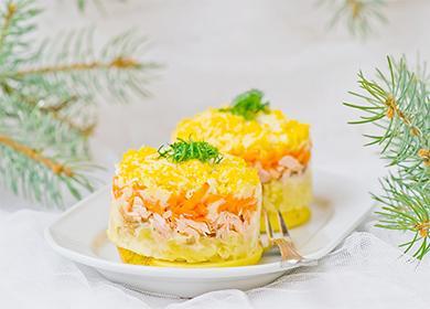 Красивый слоеный салат