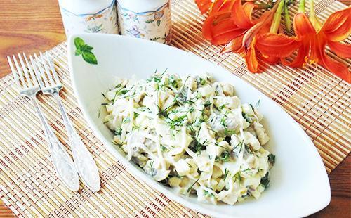 Салат оливье в пиале