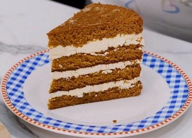 Готовим бисквитный торт с заварным кремом по рецепту с фото.