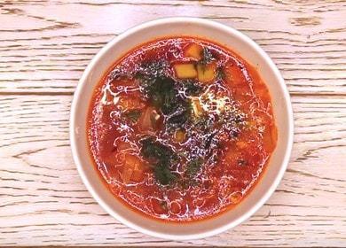 Сытный и вкусный вегетарианский борщ: рецепт с пошаговыми фото.
