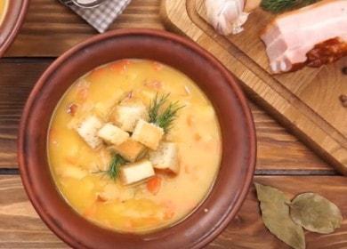 Вкуснейший гороховый суп с копченостями: рецепт с фото и видео.