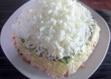 Готовим вкусный и красивый салат с копченой курицей и огурцом свежим по пошаговому рецепту с фото.