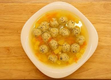 Вкусный суп с куриными фрикадельками: пошаговый рецепт с фото.
