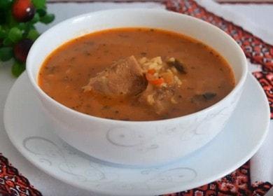 Готовим классический суп харчо из говядины с рисом по рецепту с фото.