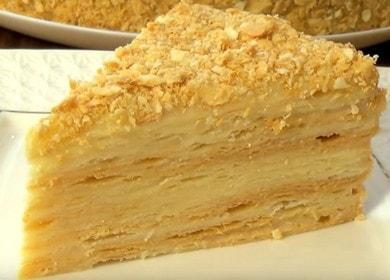 Готовим торт Наполеон в домашних условиях по рецепту с фото.