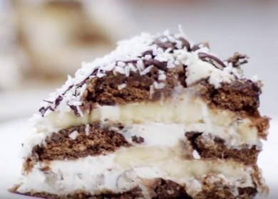 Готовим вкусный торт из пряников с бананами по рецепту с фото.