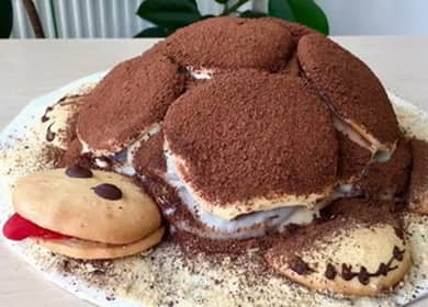 Торт Черепаха со сметаной по пошаговому рецепту с фото