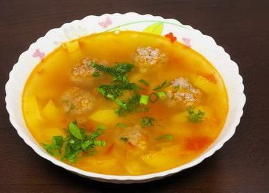 Суп с фрикадельками в мультиварке по пошаговому рецепту с фото