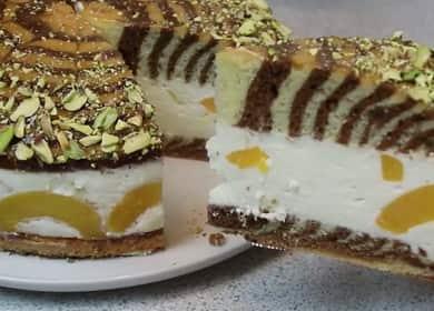 Торт Персиковая Зебра — замечательный рецепт с фото пошагово
