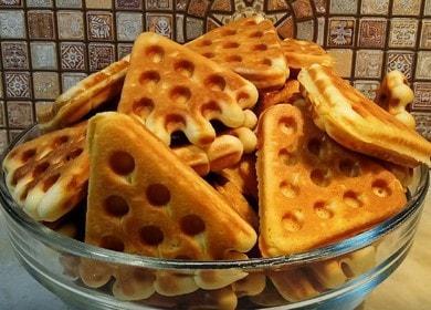 Вафельное печенье в форме на газу — простой рецепт из детства