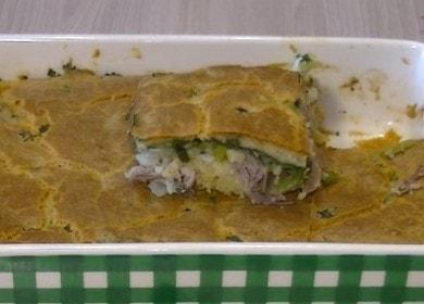 Готовим быстрый и вкусный заливной пирог с мясом по рецепту с пошаговыми фото.