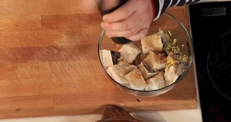 Для приготовления зубатки в духовке подготовьте ингредиенты