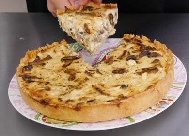 Лоранский киш с курицей и грибами — красиво, доступно и вкусно