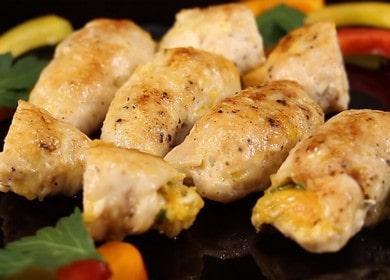 Куриные рулетики с сыром — нежные и сочные